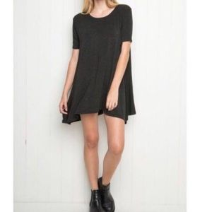 Brandy Melville T-shirt Dress In Dark Grey